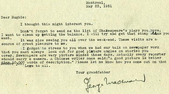 May 23, 1951 letter