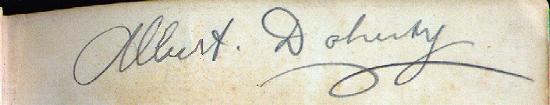 Albert's signature