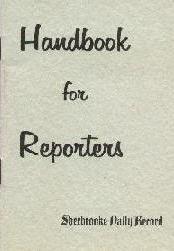 Reporters' handbook