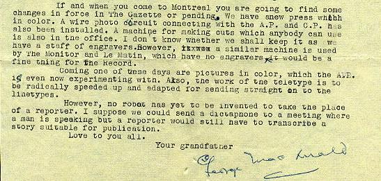 July 4, 1954 letter