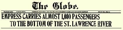 Empress of Ireland headline