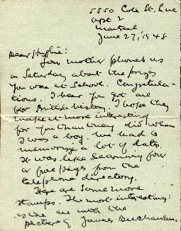 1948 letter