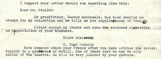 Pouliot letter