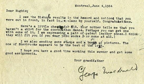 June 4, 1954 letter